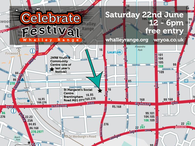 Area map Celebrate 2013