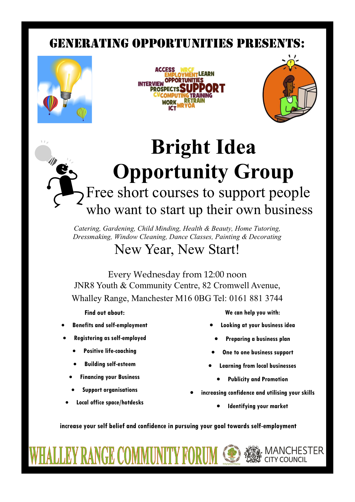 Bright Idea Opportunity Group: Free short courses to support people ...