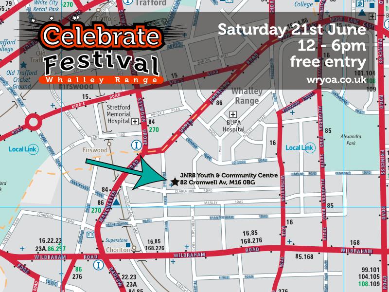 Celebrate area map 2014